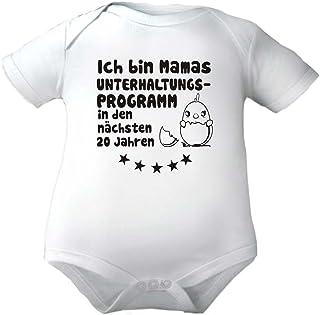 KLEINER FRATZ Babybody mit Druck ICH Bin Mama`S UNTERHALTUNGSPROGRAMM./ Kurzarmbody Mädchen Motiv Jungen
