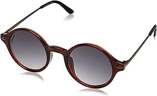 Fastrack UV Protected Round Men's Sunglasses - (P343BK2 55 Gradient Brown Color)