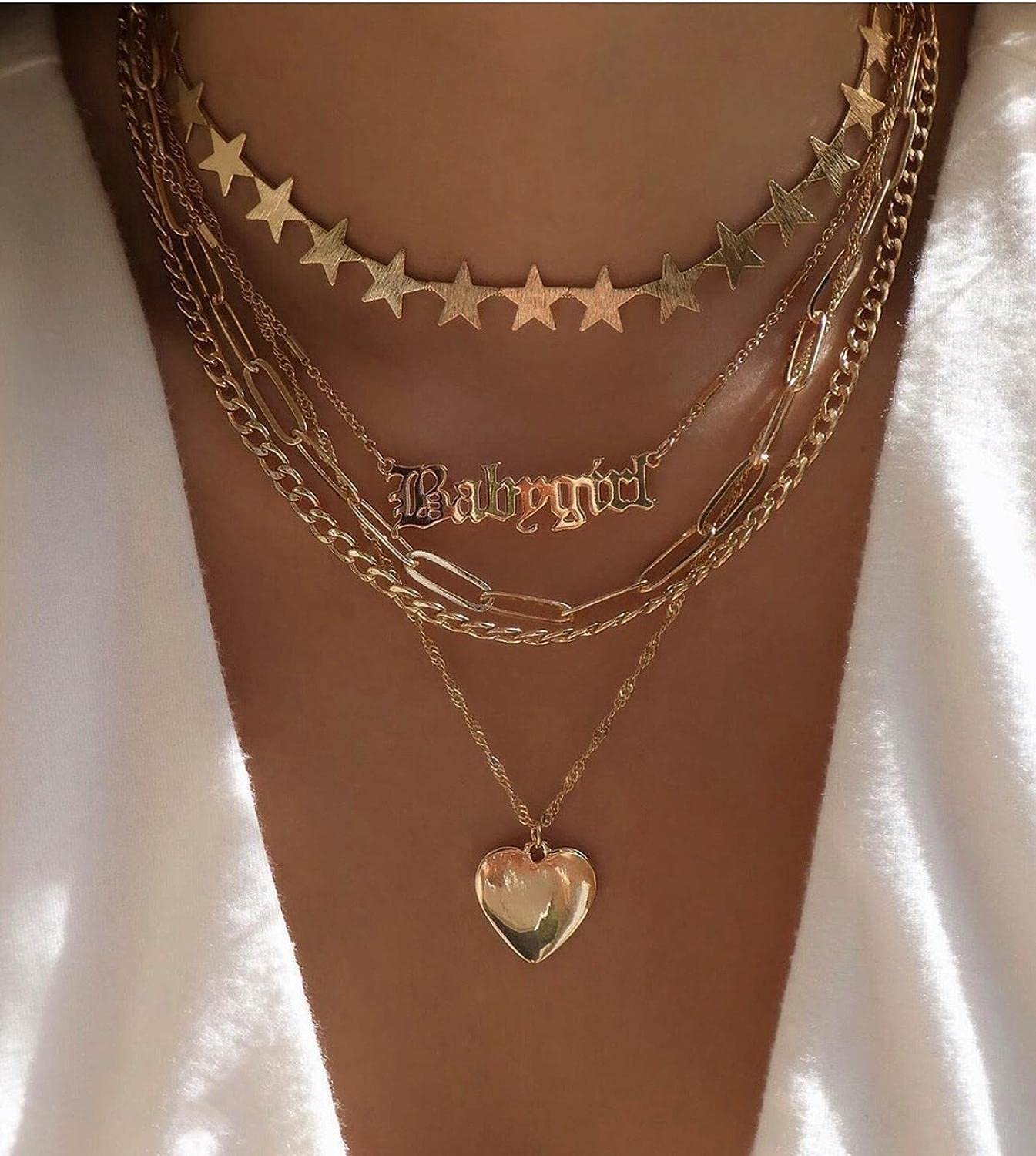 Punk Cuban Choker Necklace Collar Statement Hip Hop Big Chunky Aluminum Gold Color Thick Chain Necklace Women Jewelry