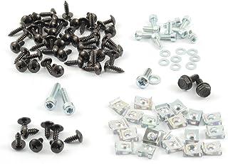 Tech Parts Koeln Kompletter Satz Verkleidungsschrauben + Clipse Yamaha Aerox Mbk Nitro   99 Teile, schwarz