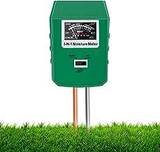 Xddias Soil Moisture Meter, 3 In 1 Soil Tester Kit with Moisture/pH/Light Test, Plant Water Sensor Meter Hygrometer for Ga...