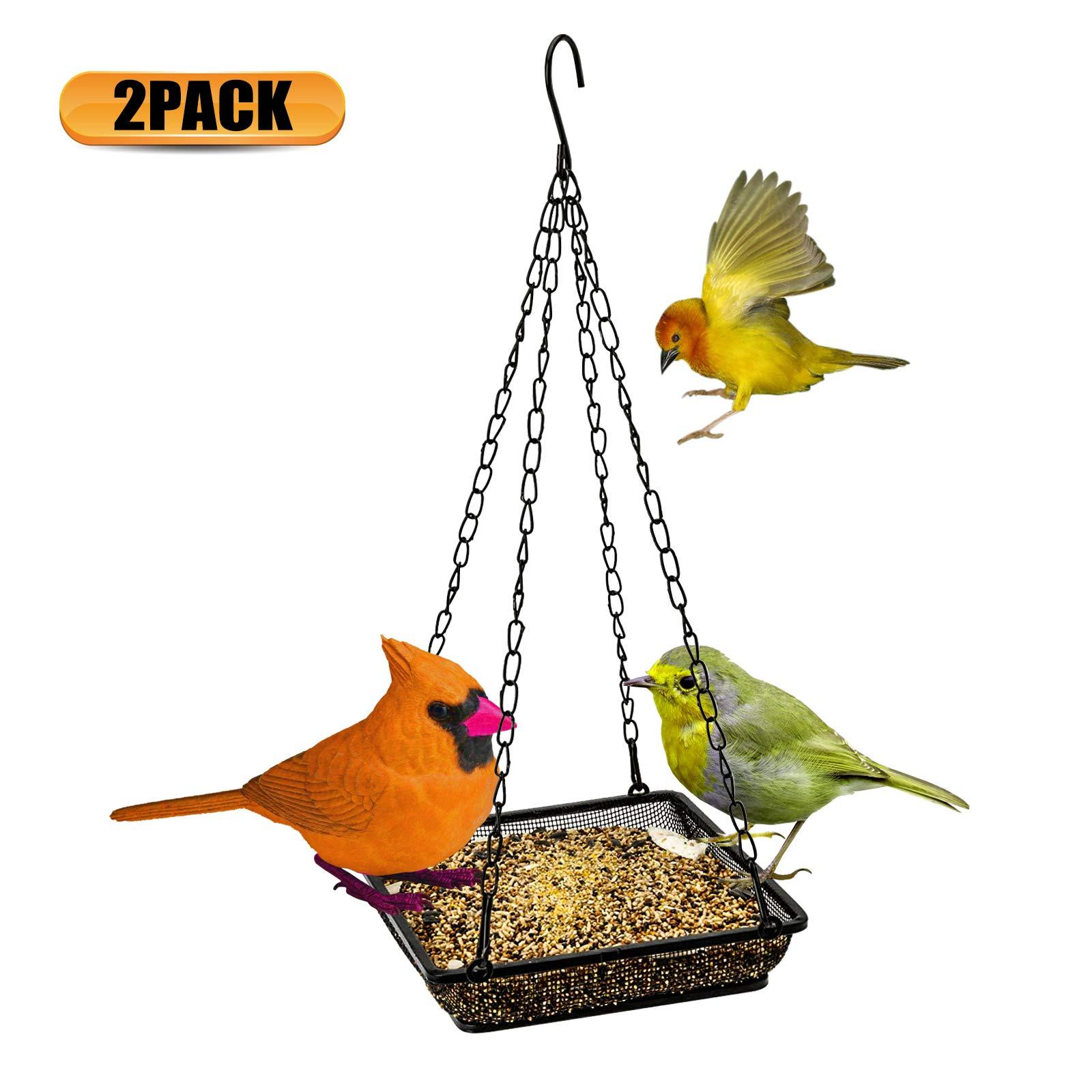 2pcs Outdoor Wild Bird Feeder Squirrel Proof Garden Food Tree Hanging Patio