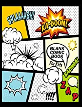 "Blank Comic Book For Kids : Create Your Own Comics With This Comic Book Journal Notebook: Over 100 Pages Large Big 8.5"" x ..."