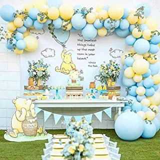 110pcs/set Yellow Blue Macaron Pastel Balloons Garland Arch Kit 12/18inch Candy Balloon for Birthday Wedding Baby Shower Anniversary Party Decoration