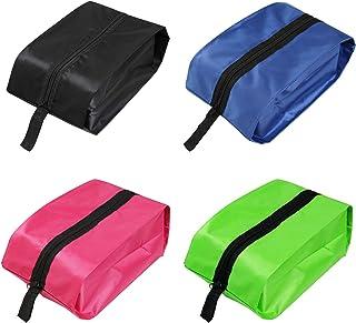 NEWSTYLE Bolsa de Zapatos Impermeable,Multifunción a Prueba de Polvo para Viajes,Bolsa Impermeable Telas no Tejidas con Ventana Transparente (Paquete de 4)