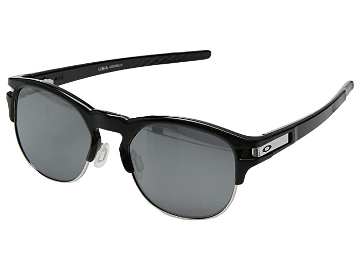 Oakley Latch Key M (52) (Polished Black w/ Black Iridium Polar) Athletic Performance Sport Sunglasses