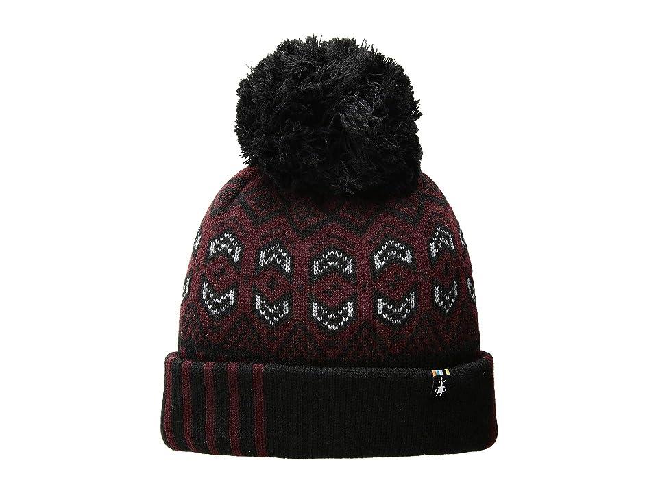 Smartwool Crystal Ridge Pattern Hat (Fig Heather) Knit Hats