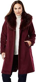 Jessica London Women's Plus Size A-Line Wool-Blend Coat