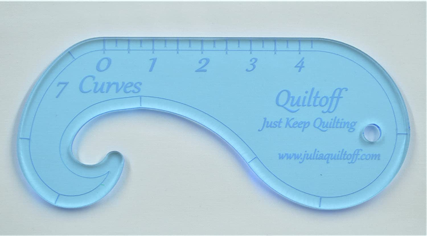 Longarm Quilting Brand new Ruler 7 Ranking TOP4 Blue Curves