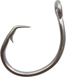 5 Pack Stainless Steel 8//0 Fishing Hooks Big Game Tuna Swordfish Saltwater