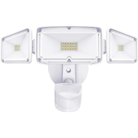 Amico 3 Head LED Security Lights Motion Outdoor Motion Sensor Light Outdoor 40W 4000 Lumens 5000k Waterproof IP65 ETL Motion Sensor Flood Light Exterior Security Light led
