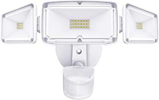 Amico 3 Head LED Security Lights with Motion Sensor, Adjustable 40W, 4000LM, 5000K, IP65 Waterproof, Exterior Flood Light ...