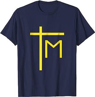 Marian Cross T-Shirt Catholic Pope Saint John Paul II Tee