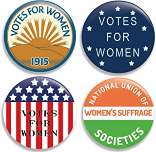Votes for Women (Collection II) Pinback Buttons/Pins (2.25 inches) Set of 4