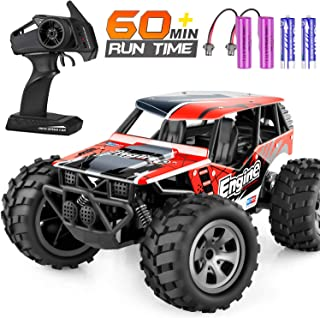 Remote Control Car, TREYWELL RC Cars Remote Control Truck, 2.4GHZ 1:18 Fast Racing Monster Car, Off Road Radio rc Cars for Boys with 4 Batteries for Kids Teens Adults
