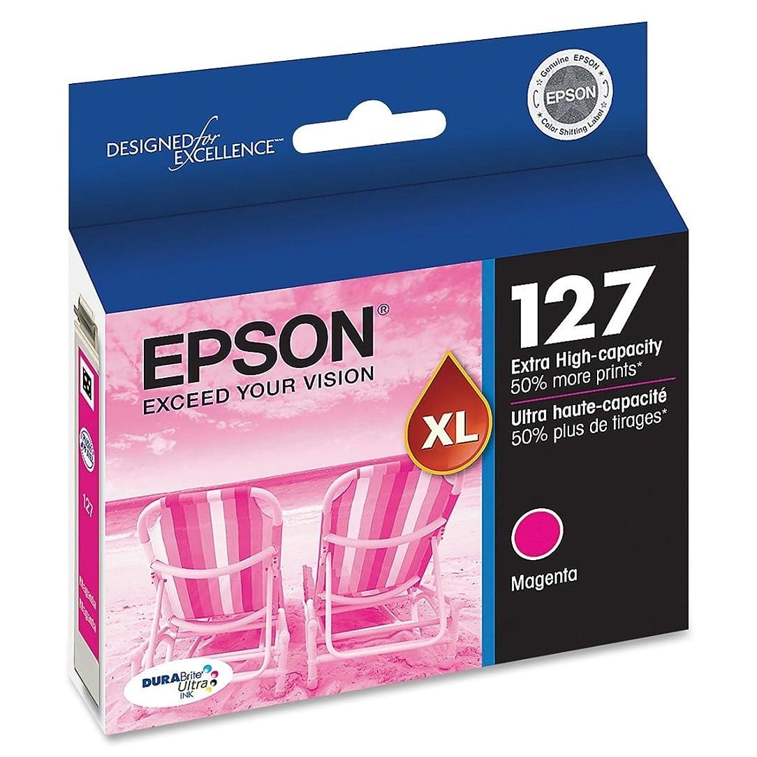Epson T127320 OEM Ink - (127) Stylus NX530 NX625 Workforce 60 545 630 633 635 645 840 845 3520 3540 7010 7510 7520 DURABrite Ultra Extra High Capacity Magenta Ink (755 Yield)