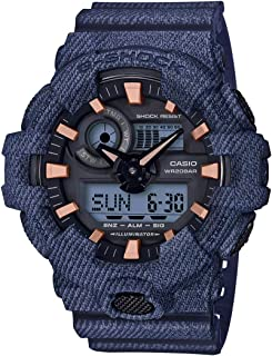 Casio Men's G-Shock GA700DE-2A Blue Plastic Quartz Diving Watch