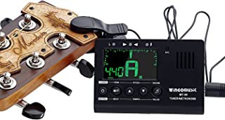 WINGO Digital Metronome, Tuner and Tone Generator - 3 in1 Device(Black)-for Chromatic, Guitar, Bass, Ukulele, Violin-Battery Included