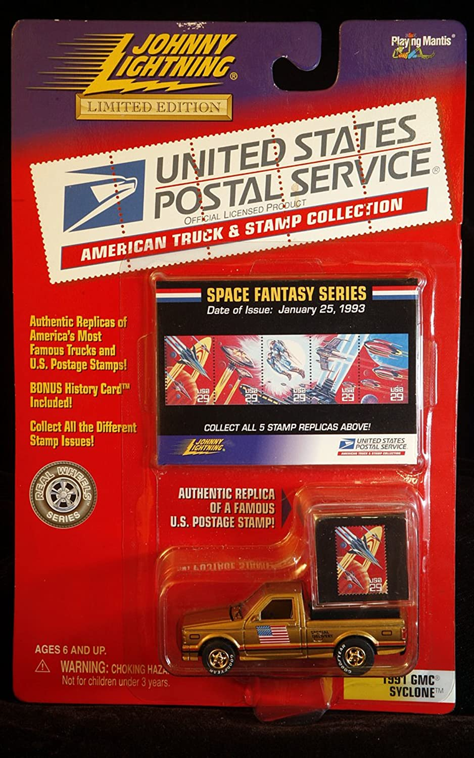 Johnny Lightning USPS American Truck & Stamp Collection 1991 GMC Syclone Space Fantasy Series by Jphnny Lightning