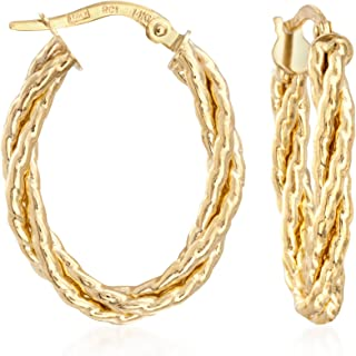 Best twisted hoop earrings gold Reviews