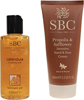 SBC Hand- & Foot Cream Propolis & Safflower 100ml  Skincare Gel Calendula - Ringelblume 100ml