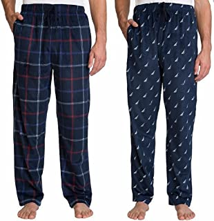 Nautica Men's Sueded Fleece Pajama Pants 2 Pack