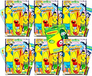 Sesame Street Elmo Ultimate Party Favors Packs -- 6 Sets with Stickers, Coloring Books and Crayons (Party Supplies)