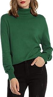 Woolen Bloom Jersey Cuello Alto Camiseta Manga Larga Sueter Invierno Jersey Basico Suelto Jerseys Camisa Tops Pull-Over Su...