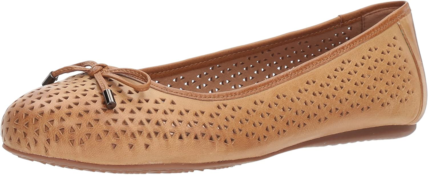 SoftWalk SoftWalk Woherren Napa Laser Ballet Flat, tan, 12.0 N US