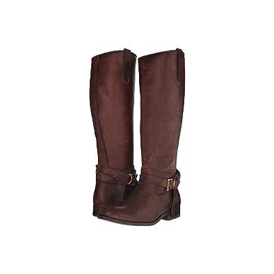 Frye Melissa Knotted Tall (Redwood Polished Stonewash) Cowboy Boots
