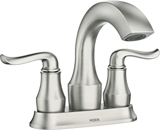 Moen 84300SRN Hamden Two-Handle 4-inch Centerset Bathroom Faucet, Spot Resist Brushed Nickel