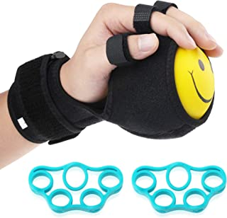 REAQER Grip Strength Ball Finger Device Training Equipment Anti-Spasticity Ball Splint Finger Orthosis for Hand Functional Impairment/Hemiplegia/Stroke