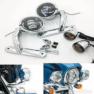 Motorcycle harley davidson light passing lights harley fog light bracket street glide roadking electra glide fog lighting