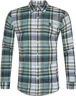 Men's Long Sleeve Madras Slim FIT Poplin Button Down Shirt