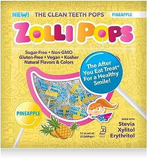 Zollipops The Clean Teeth Pops, Anti Cavity Lollipops, PINEAPPLE, 15 Count