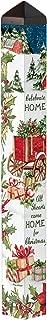 Studio M Carolina Christmas Winter Art Pole Decorative Garden Post, Made in The USA, 40 Inches Tall