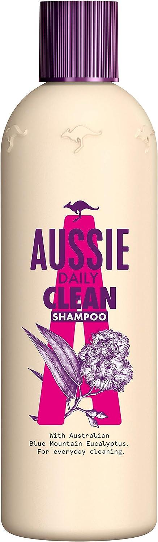 Aussie Mega Champú Limpia A Diario, Con Eucalipto De Las Montañas Azules Australianas - 300 ml