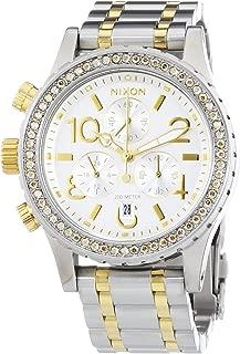 Nixon A404-1921 Ladies 38-20 Chrono Silver Gold Watch