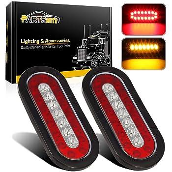 QXXZ 2/pcs Remolque luz Trasera LED luz Trasera de Freno Cola de inversi/ón l/ámpara 24/V Impermeable Universal para Remolque cami/ón Lorry Caravan Van Tractor