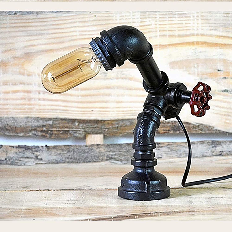 Weich Handgemalte Vintage Schmiedeeisen Handwerk LOFT europische Wasser Tischlampe Restaurant Bar Café kreative Wasser Tischlampe Komfortabel