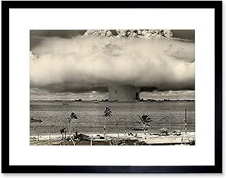 The Art Stop Vintage Photo Atomic Bomb Mushroom Cloud Bikini Framed Print F12X7646