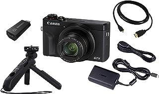 Canon PowerShot G7 X Mark III Streaming Kit Kamera + Atomos Connect + Griffstativ + HDMI Kabel (20,1 MP, 7,5cm LCD Touchscreen klappbar, 4K, Full HD, WLAN, Bluetooth, Blendenautomatik), schwarz