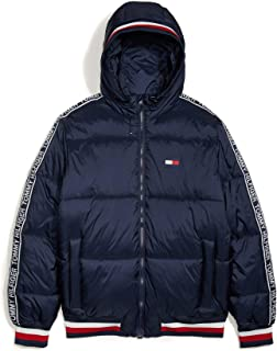 mens Tommy Hilfiger Men's Adaptive Puffer Jacket With Magnetic Zipper