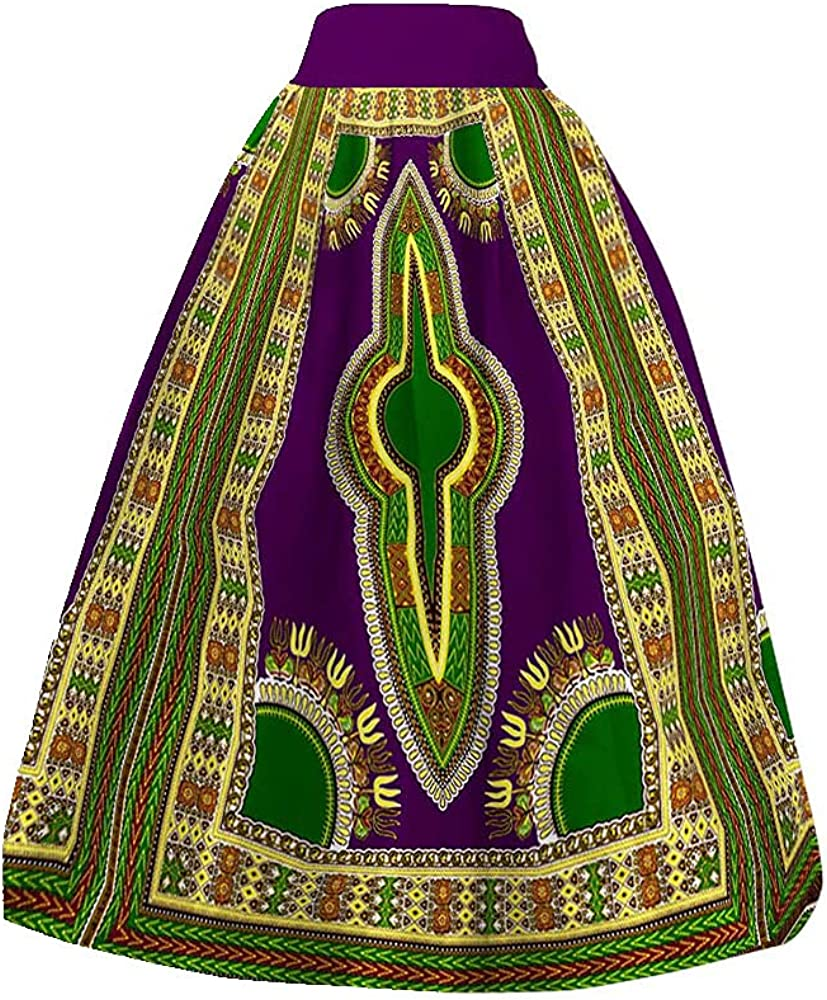 BAZINRICHE African Skirt for Women Dashiki A-line Chic Skirt Clothing Ankara Long Skirts