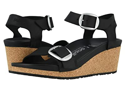 Birkenstock Soley Big Buckle (Black Oiled Leather) Women