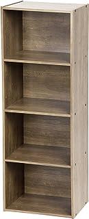 Iris Ohyama Basic Storage Shelf CX-4 Mueble de AlmacenamientoEstantería Modular 4 Compartimentos Engineered Wood Marró...