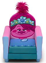 Delta Children Figural Upholstered Kids Chair, Trolls World Tour Poppy