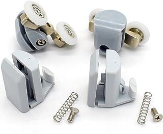 4 x para mampara de ducha ganchos guías/rodillos/ruedas/corredores 25 mm