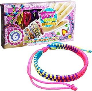 DIY Wear BFF Cord Bracelets Color Weave Bracelet for Girl Bracelet Making Kit for Gift