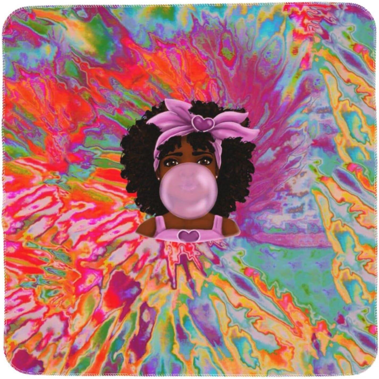 Black Girl Soft Eceiving Arlington Mall Max 47% OFF Blanket Strol Baby Nursery for
